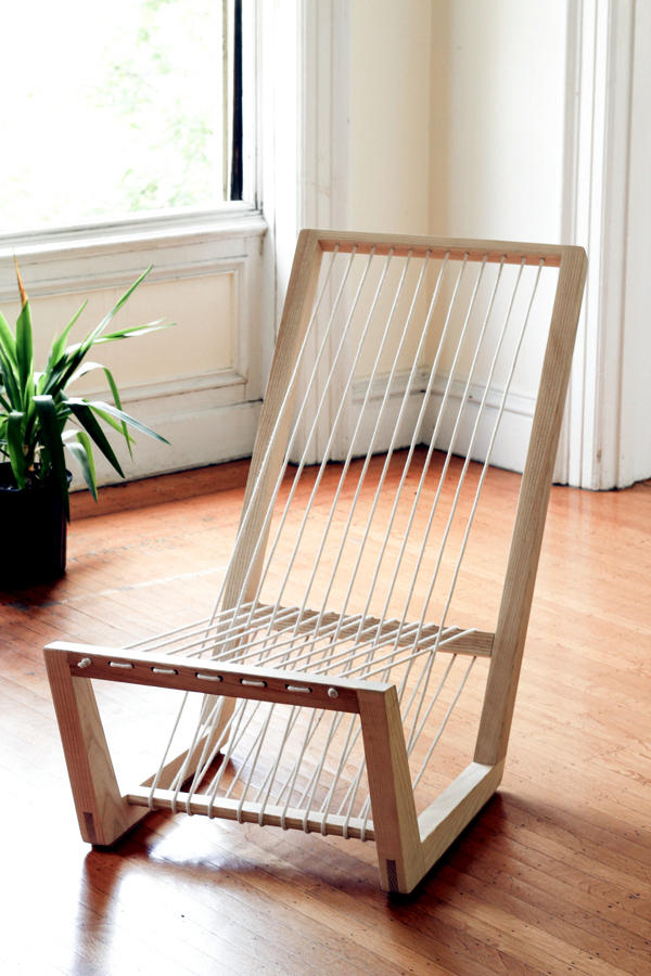 Lounge Chair Made Of Ash Wood Convincing Visual Lightness