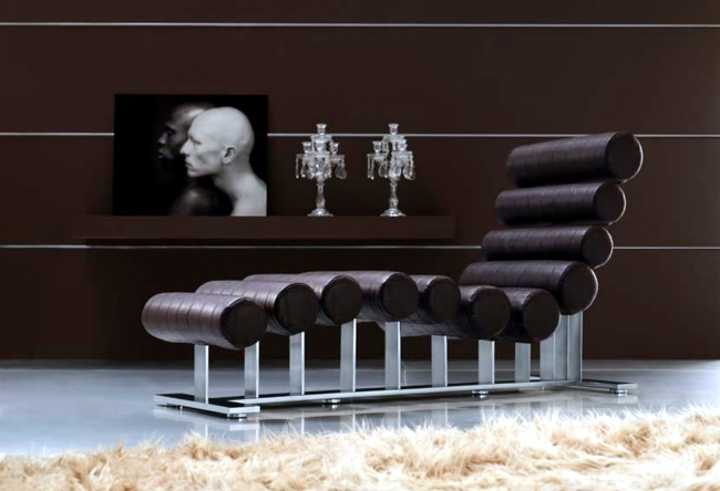 "Lounge chair ""Nomi"" leather will appeal to all trendsetters"