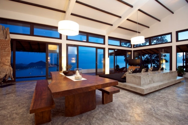 Luxurious holiday house with exotic decor and stunning views