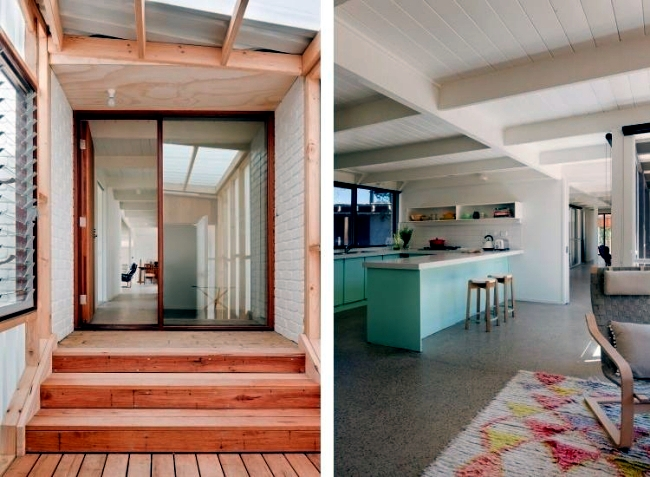 Luxury Beach House with Flat Roof in Australia by Clare Cousins