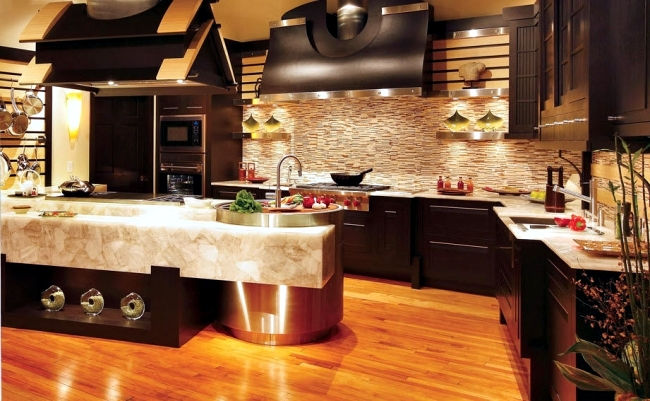 Luxury Kitchen Design Of Bentwood With Elements Of Wood