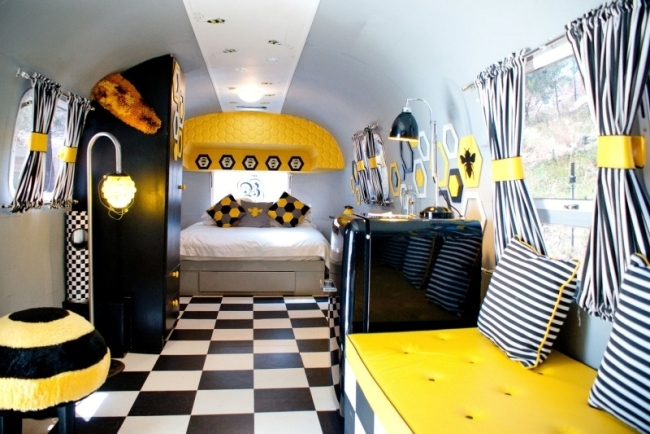 Luxury Trailer Park Hotel transforms into a cozy designer