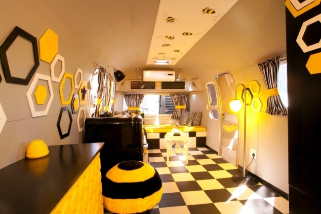 Luxury Trailer Park Hotel transforms into a cozy designer