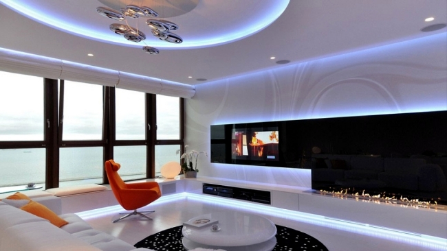 Magical Led Lighting Effects In A Modern Apartment Poland