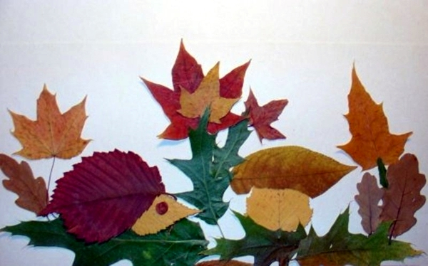 Make Animal Figures Made Of Autumn Leaves Themselves