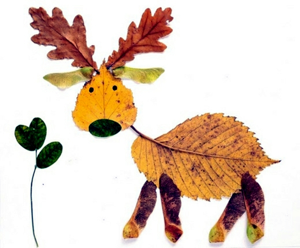 Make Animal Figures Made Of Autumn Leaves Themselves Crafting With