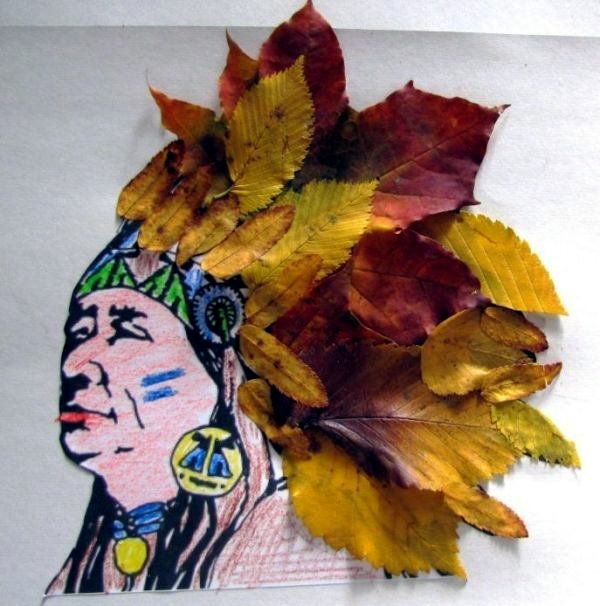 Make animal figures made of autumn leaves themselves - crafting with children