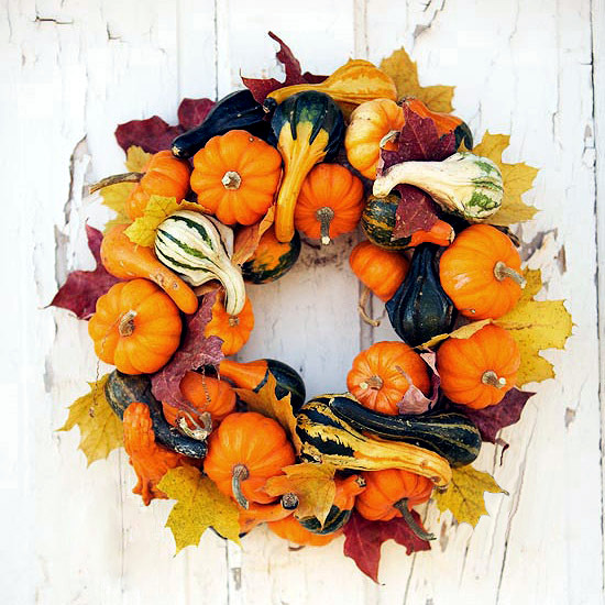 Make autumn door wreath from natural materials themselves - 22 ideas