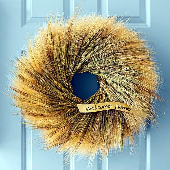 Make autumn door wreath from natural materials themselves - 22 ideas
