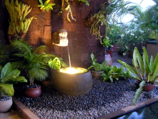 Make beautiful water garden - terracotta fountains for the garden