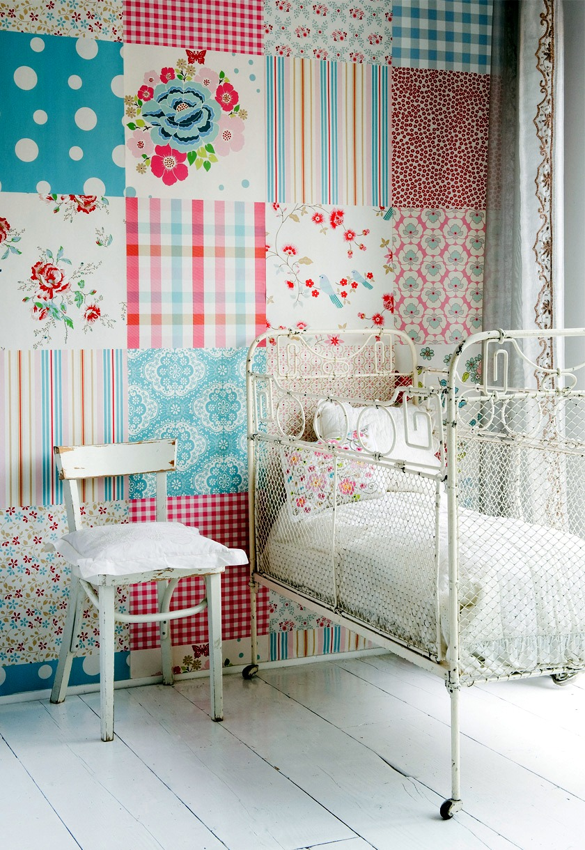 Make Craft Ideas With Leftover Wallpaper-Creative Home
