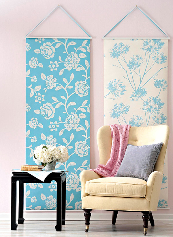 Make Home Decor Craft Ideas Part - 49: Make Craft Ideas With Leftover Wallpaper-Creative Home Decoration Itself