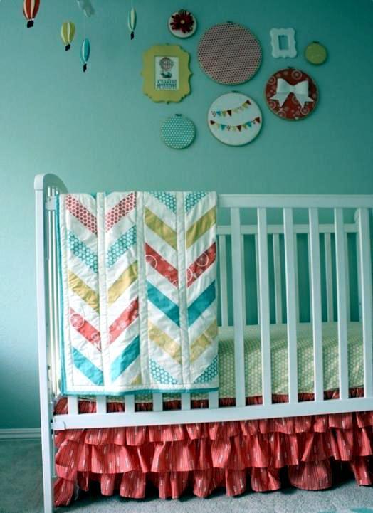 Make decorating the baby room itself - unique interior ideas