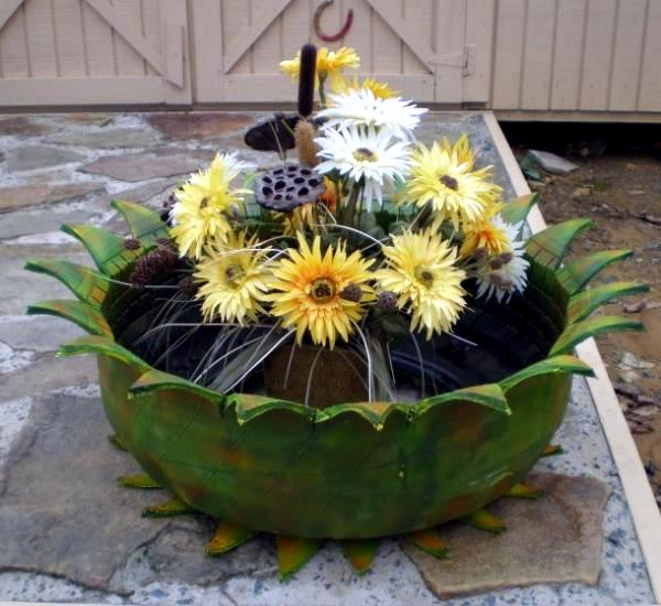 how to make flower pot design