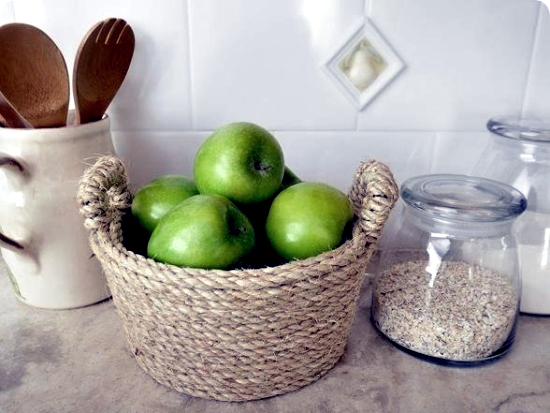 Make of sisal rope bowl - craft ideas for making your own