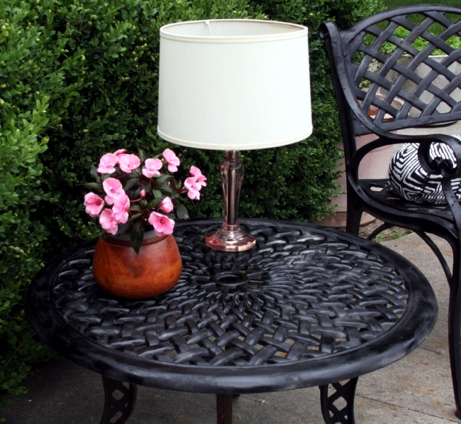 Make Solar Table Lamp Itself A Cozy Ambience In The