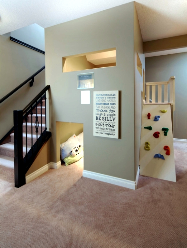 Make the play area in the children's imaginative and playful