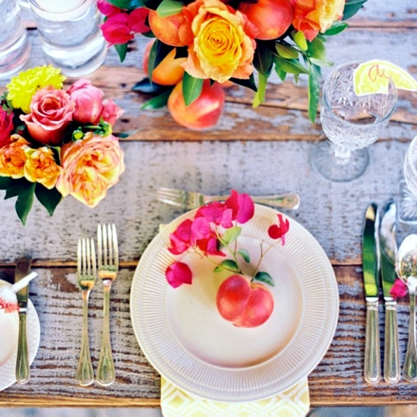 Summer Wedding Decoration Ideas: Make Your Own Table Decorations, Flowers And Fruits Bring
