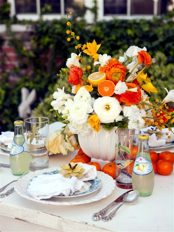 Make Your Own Table Decorations Flowers And Fruits Bring