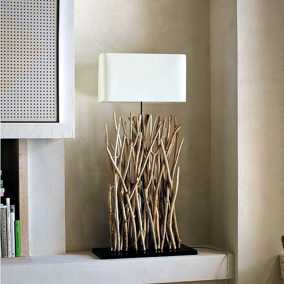 Making wooden bulbs themselves - decoration with branches in natural look to your home