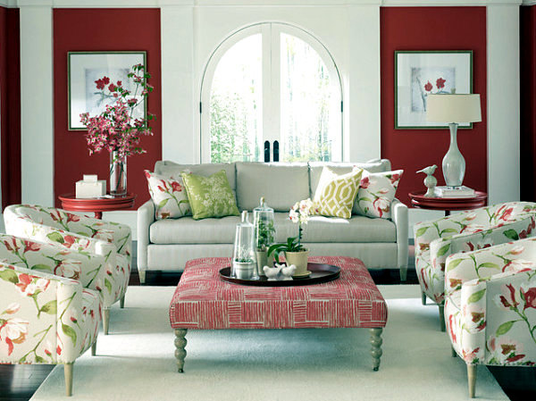 male and female shape style living room interior contrasts - Shape In Interior Design