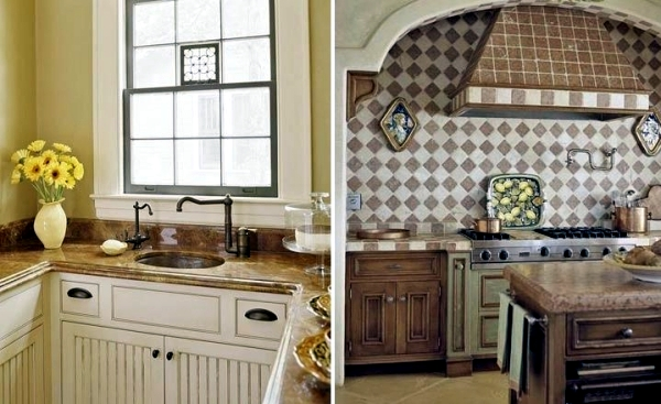 Marble countertop for the kitchen - ideas for individual design