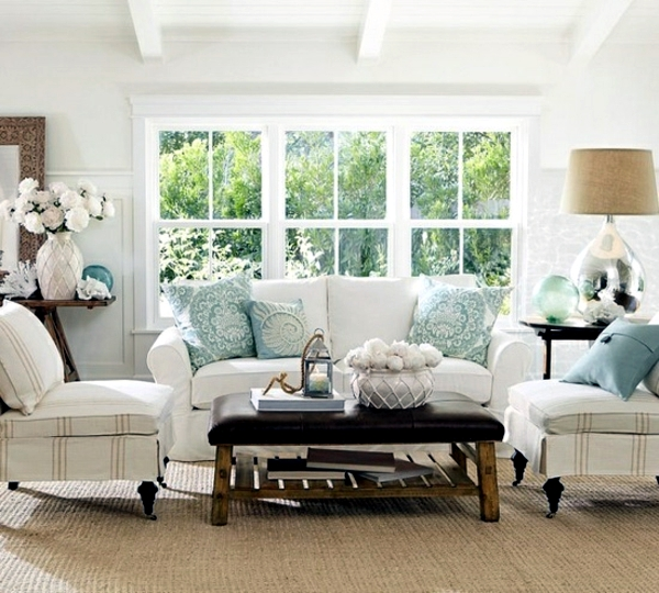 Bring The Shore Into Home With Beach Style Living Room: Bring Summer And Sunshine Into