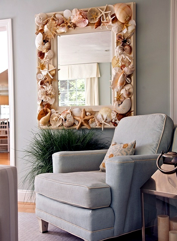 Maritime decoration make with shells themselves - 15 craft ideas