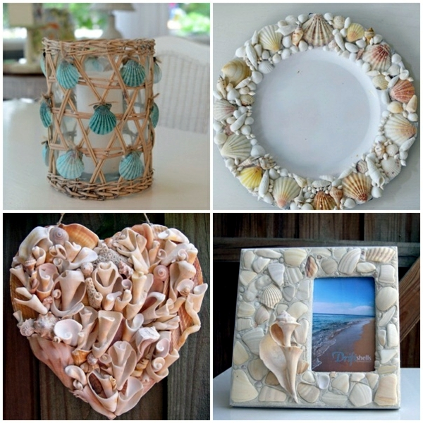 Maritime decoration make with shells themselves 15 craft ideas interior design ideas ofdesign - Pinterest craft ideas for home decor property ...