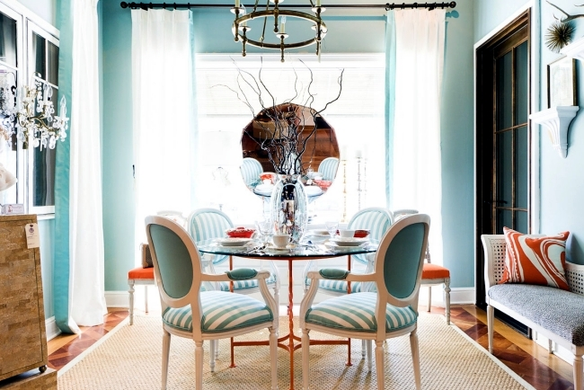 Maritimes Dining Room Set Aqua Colors And Symbols Of The Sea