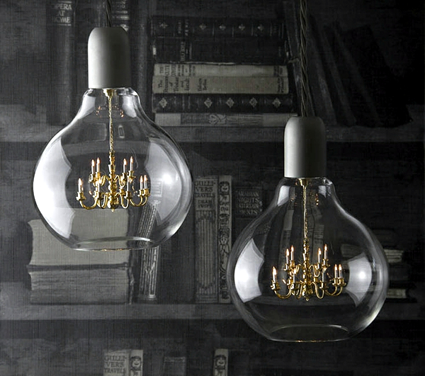 Mini Crystal Chandelier In A Light Bulb The Edison Lamp