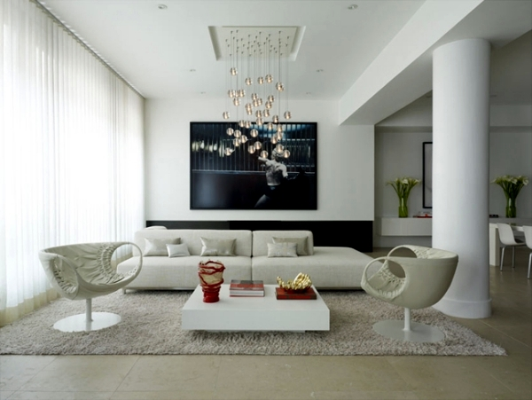 Living Room Minimalism In The Living  Symbolic Of Modern Setting