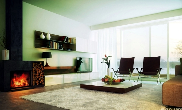 Minimalism in the living room - symbolic of modern setting
