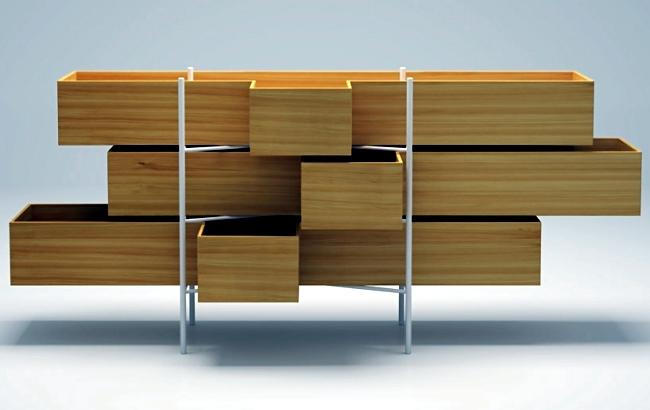 Minimalist bathroom furniture series designed by studio Nendo for Bisazza