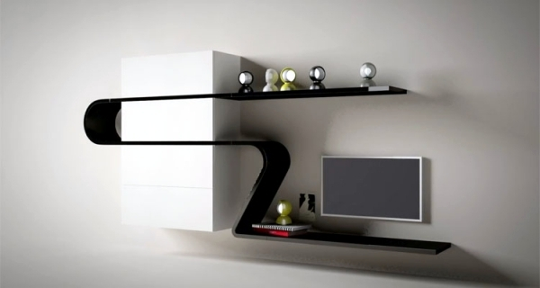 Minimalist Wall Shelf Design Wave By Novamobili Interior
