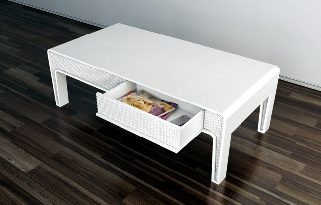 Minimalist white furnishings - packaged complexity in simplicity