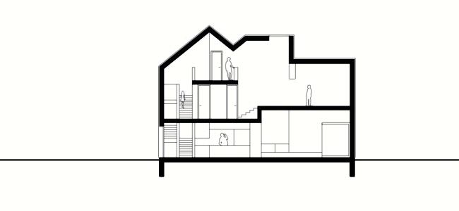 Minimalist wooden house on Lake Zurich with clean design