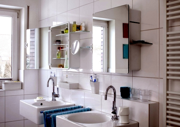 Mirror Cabinet In The Bathroom Designs For Minimalist Interior