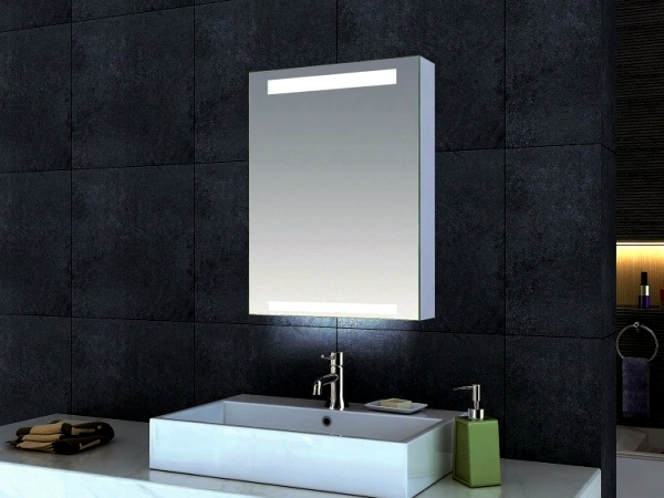 For A Modern Bathroom Interior, Choose A Design Mirrored Closet With  Integrated LED Lamp. In This Way, The Bathroom Is A Little Futuristic And  Much More ...