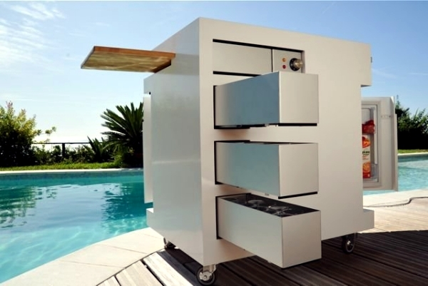 E Mobile Mini Outdoor Kitchen  Summer Barbecue Party By The Pool Or In  Garden