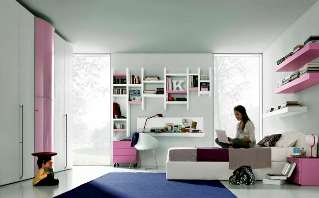 Modern and creative decorating set – 101 ideas for youth room ...