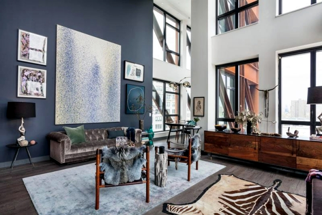 This Modern Apartment Is Located In The Neighborhood Of Dumbo Down Under Manhattan Bridge Overpass Brooklyn New York