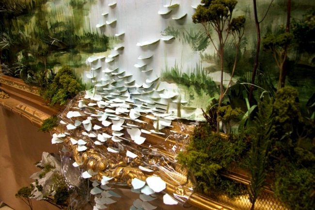 Modern art installation inspired by nature landscape