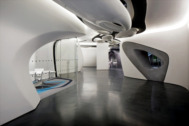 Modern Bathroom Exhibition Interior Project By Zaha Hadid