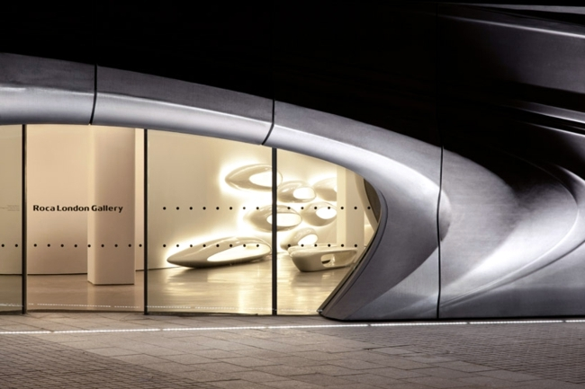 Modern bathroom exhibition - Interior project by Zaha Hadid for Roca