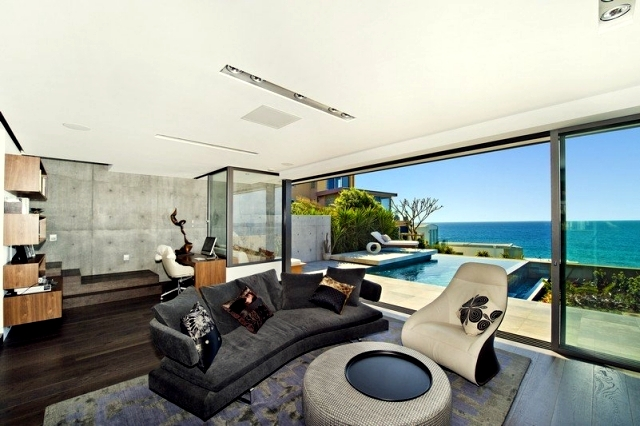 Modern Beach House With Glass Front And A Wonderful Sea