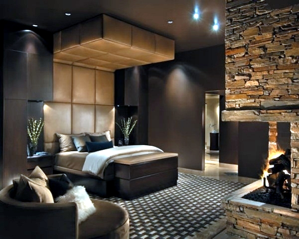 Modern bedroom colors - Brown conveys luxury and comfort