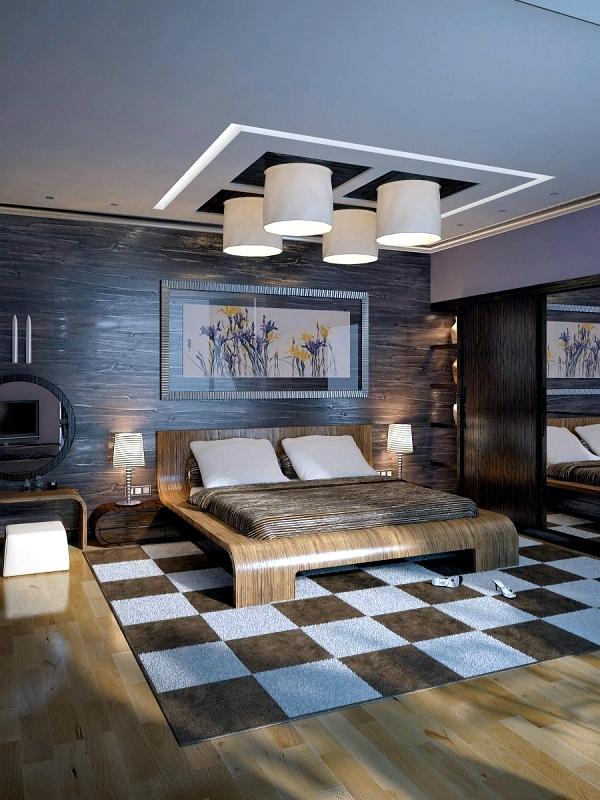 Modern bedroom colors - Brown conveys luxury and comfort