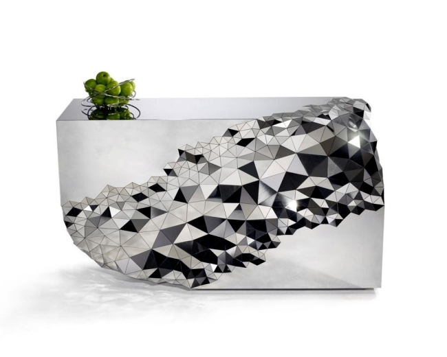 Superieur This Design Console Table Was Designed By Jake Phipps. The Painting Was  Called And Impressed With Unusual Shapes And An Interesting Geometric  Pattern ...