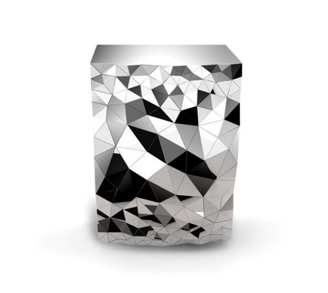 Modern console table design with geometric pattern by Jake Phipps